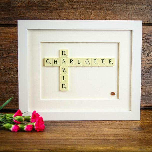 Personalised Genuine Scrabble Tile Frame