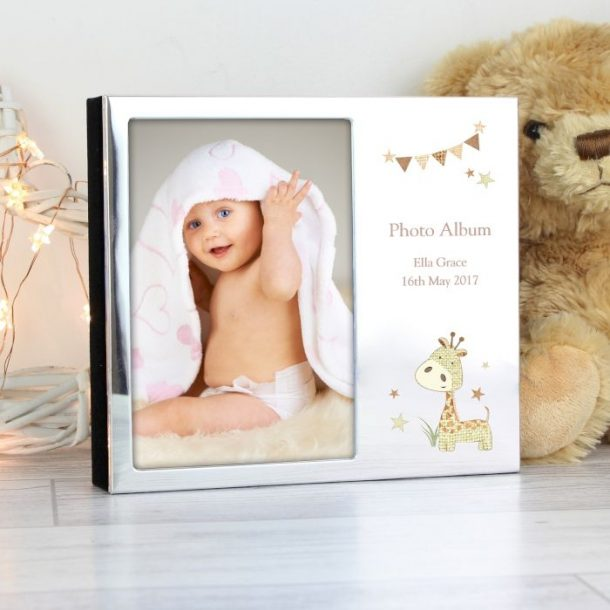 Personalised Giraffe Photo Frame Album