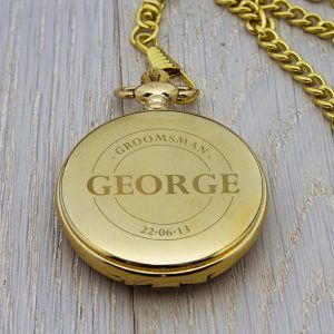 Personalised Gold Finish Pocket Watch