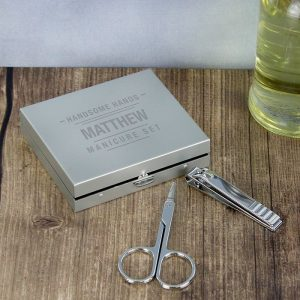 Personalised Handsome Hands Male Manicure Set