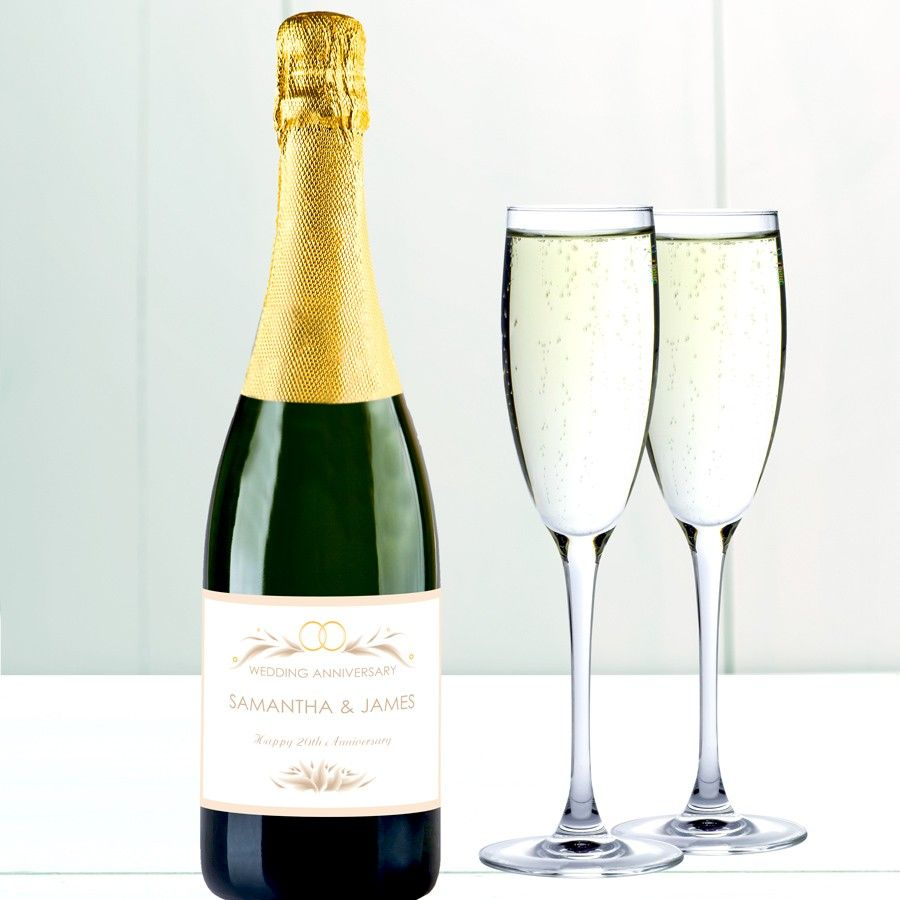 personalised happy anniversary champagne love my gifts