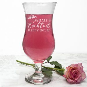 Personalised Happy Hour Cocktail Glass