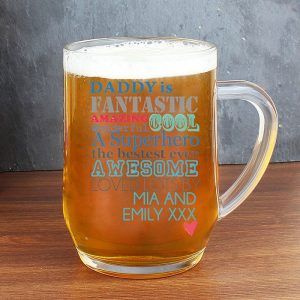 Personalised He Is Glass Tankard