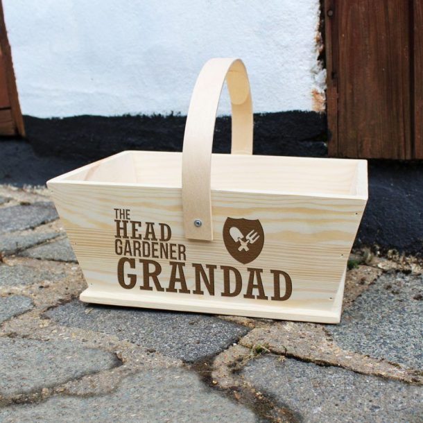 Personalised Head Gardener Wooden Trug