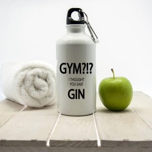 Personalised I Thought You Said Gin Water Bottle
