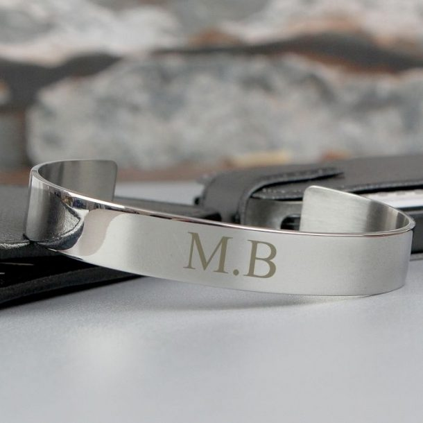 Personalised Initial Steel Bangle
