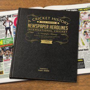 Personalised International Cricket Newspaper Book