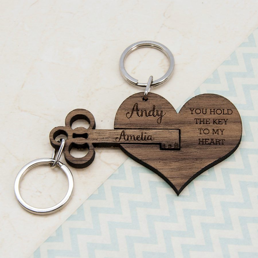 Personalised Key To My Heart Keyring Love My Gifts