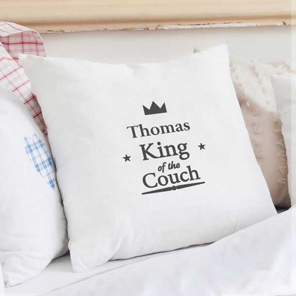 Personalised King of the Couch Cushion Cover