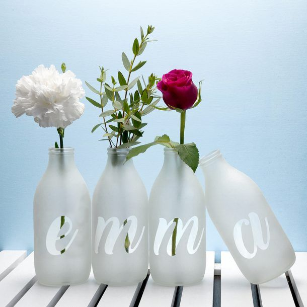 Personalised Letter Vases