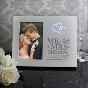 Personalised Light Up Wedding Photo Frame
