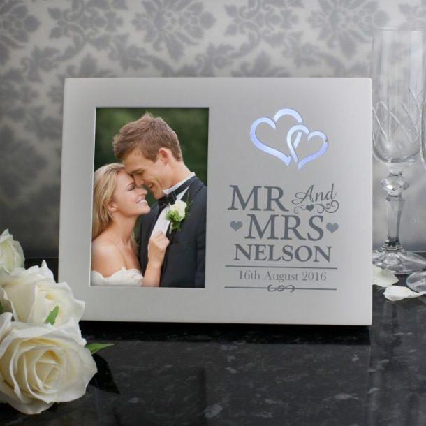 Personalised Light Up Wedding Photo Frame