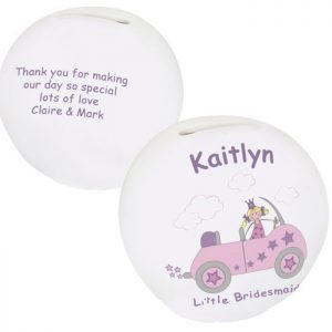 Personalised Little Bridesmaid Money Box