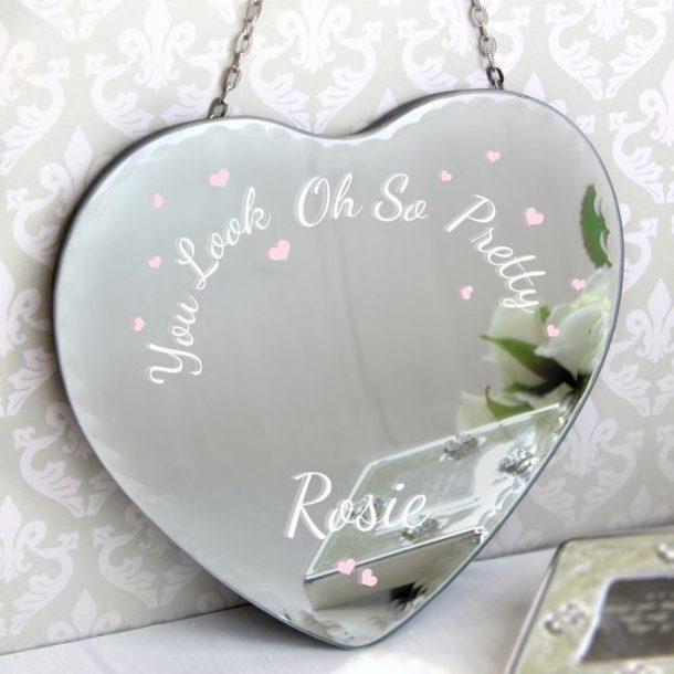 Personalised Love Heart Mirror