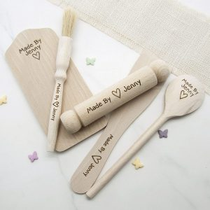 Personalised Made By Kids Baking Set