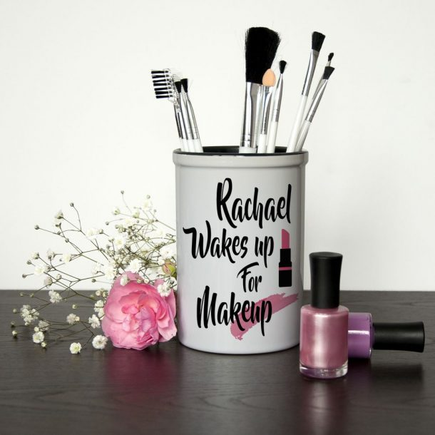 Personalised Make Up Brush Holder