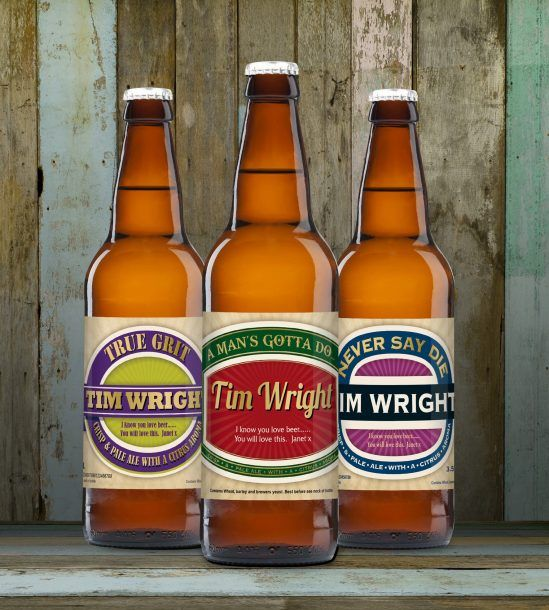 Personalised Man's Virtues Set Of Craft Beers