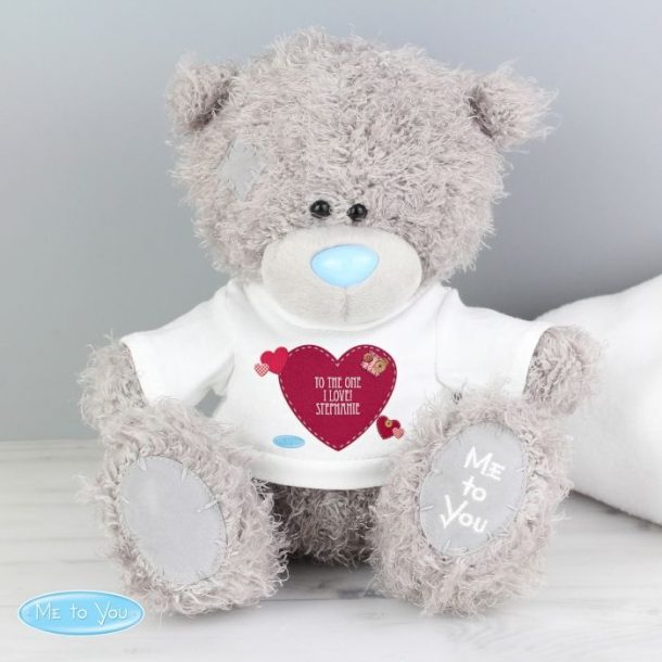 Personalised Me To You Bear & Heart T-Shirt