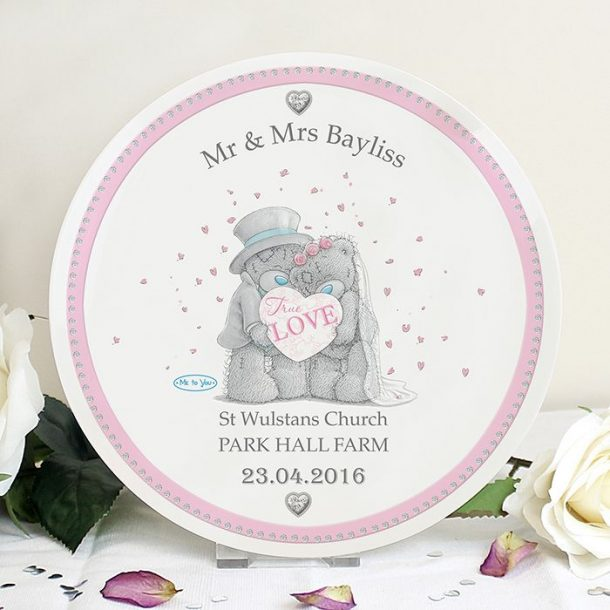 Personalised Me To You Wedding Plate