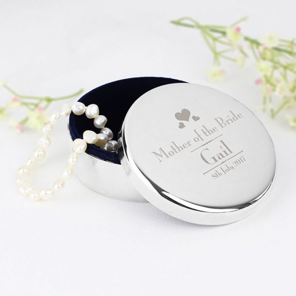 Personalised Mother Of The Bride Trinket Box