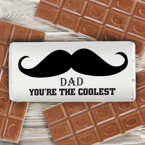 Personalised Moustache Chocolate Bar