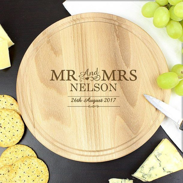 Personalised Mr & Mrs Cheese Board