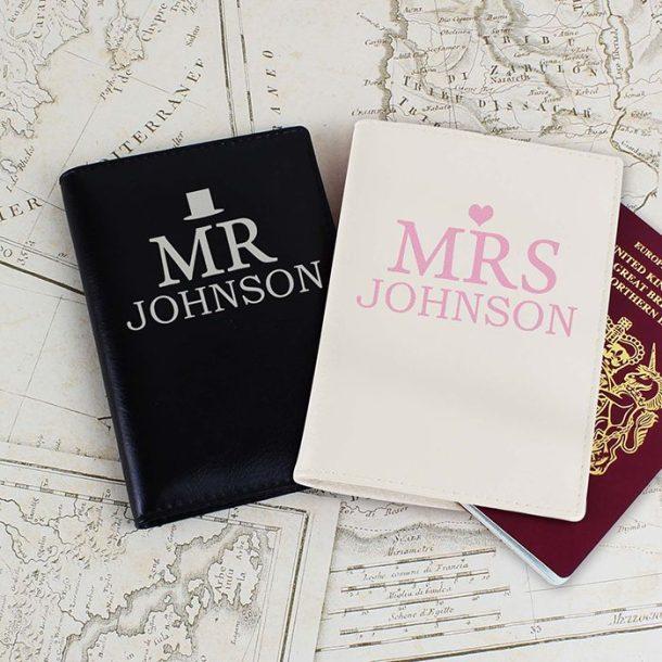 Personalised Mr & Mrs Passport Set
