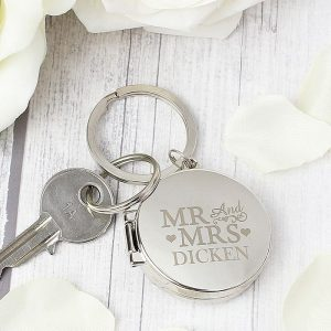 Personalised Mr & Mrs Photo Keyring