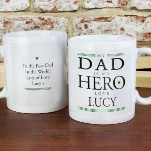 Personalised My Dad is My Hero Mug
