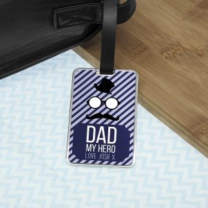 Personalised My Hero Luggage Tag
