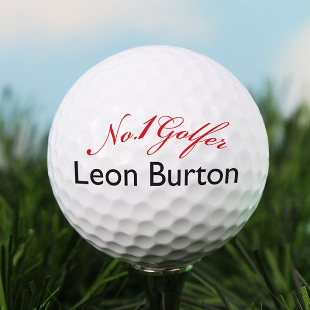 Personalised No 1 Golf Ball