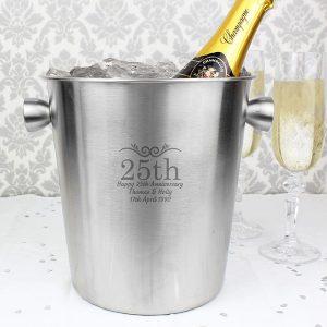 Personalised Number Stainless Steel Ice Bucket