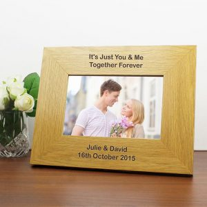 Personalised Oak Finish Photo Frame
