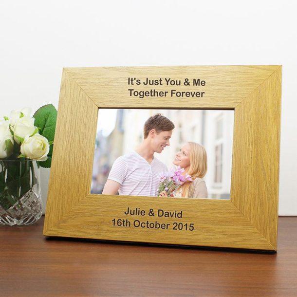 Personalised Oak Finish Photo Frame