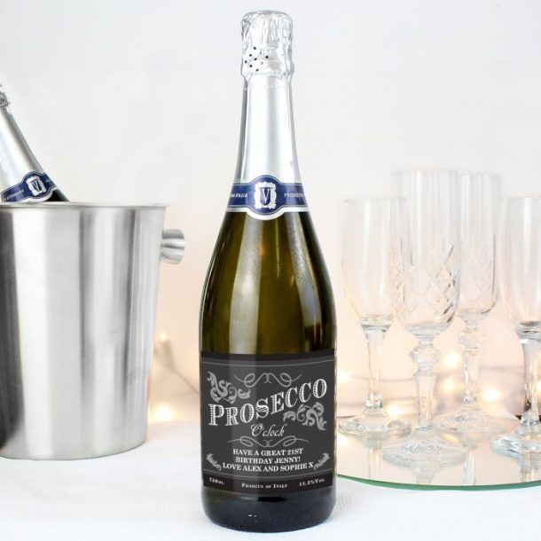 Personalised O'Clock Bottle of Prosecco