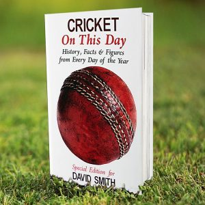 Personalised On This Day Cricket Book