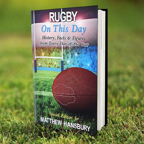 Personalised On This Day Rugby Book