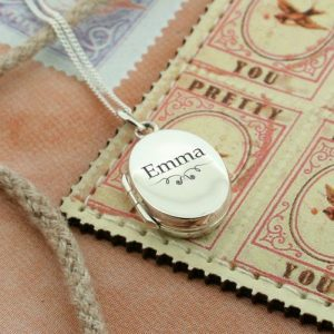 Personalised Ornate Oval Locket