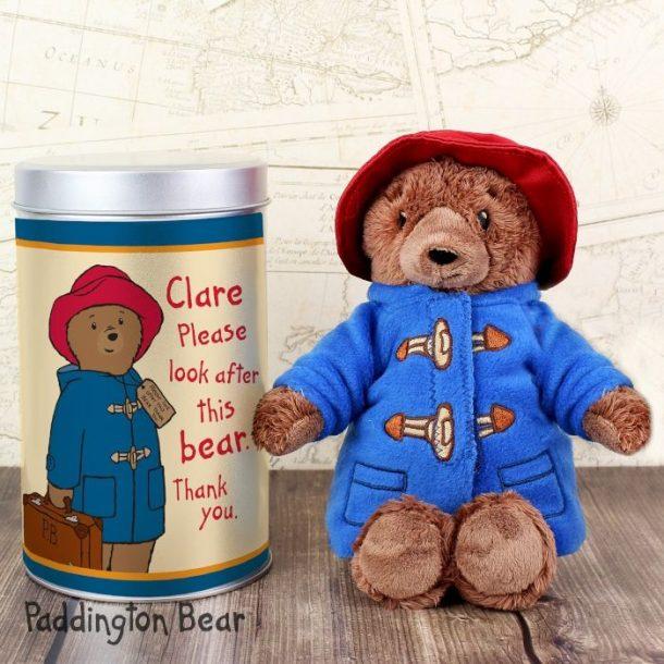 Personalised Paddington Bear & Tin