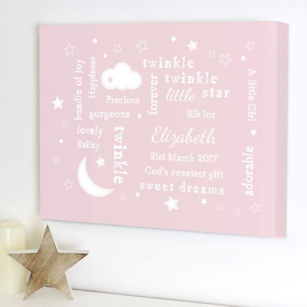 Personalised Pink Twinkle Twinkle Typography