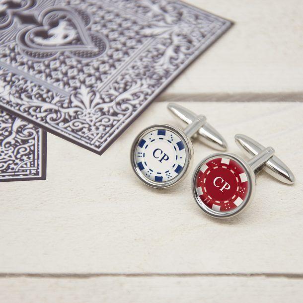 Personalised Poker Chip Cufflinks