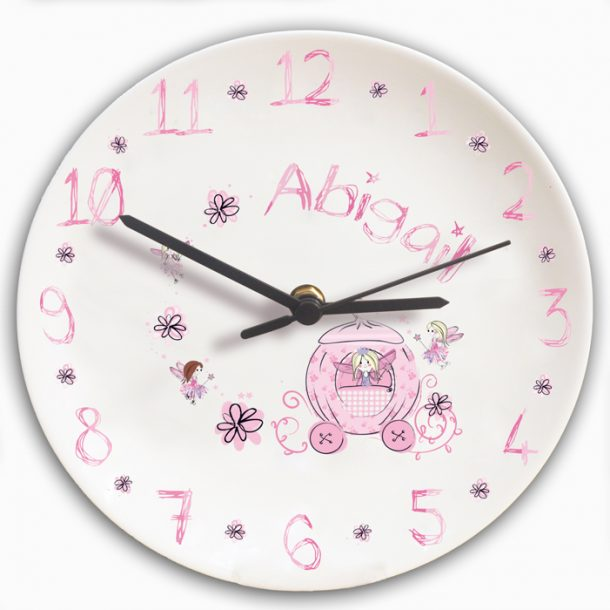 Personalised Pumpkin Fairy Clock