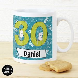 Personalised Purple Ronnie Big Age Mug