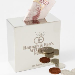 Personalised Rings Money Box