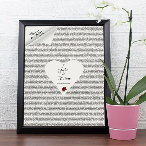 Personalised Romeo and Juliet Poster Frame