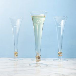 Personalised Set Of LSA Prosecco Flutes