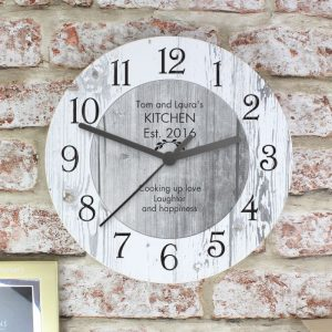 Personalised Shabby Chic Wooden Clock
