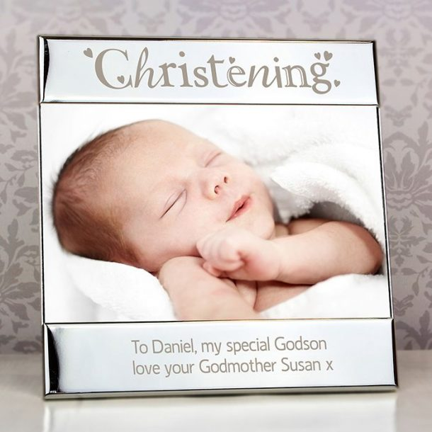 Personalised Silver Christening Photo Frame