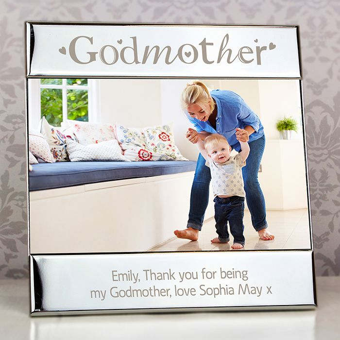 Personalised Silver Godmother Photo Frame Love My Gifts