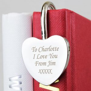 Personalised Silver Heart Book mark
